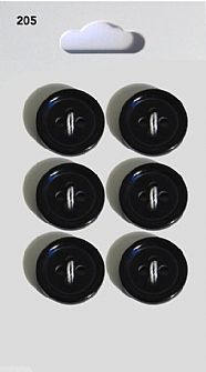 Black Round Rimmed Buttons 205