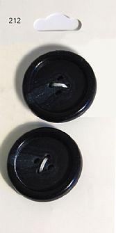 Black Round Rimmed Buttons 212