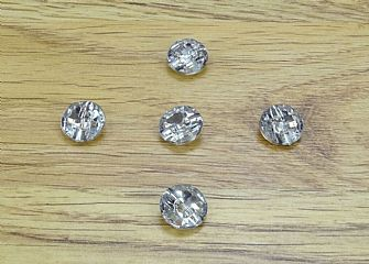 Crystal Effect Clear Round Buttons 324