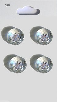 Crystal Effect Clear Round Buttons 328