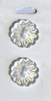 Clear Crystal Flower Effect Buttons 568
