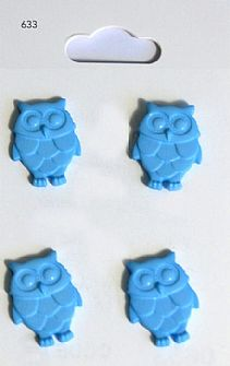 Blue Owl Buttons 633