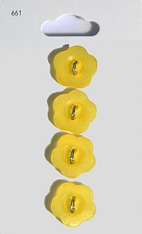 Yellow Flower Buttons 661