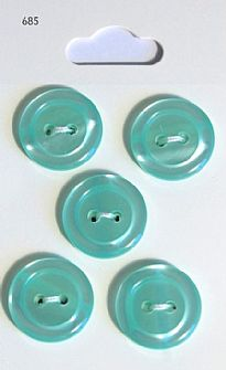 Aqua Round Rimmed Buttons 685