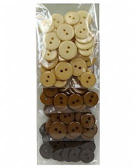 Brown Ombre Button Pack