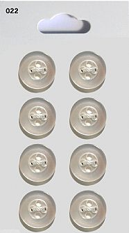 Clear Round Rimmed Buttons 022