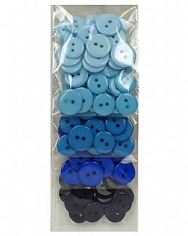 Blue Ombre Button Pack