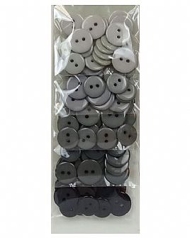 Grey Ombre Button Pack