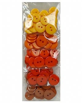 Orange Ombre Button Pack