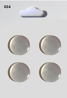 Clear Round Domed Buttons 024
