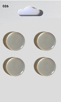 Clear Round Domed Buttons 026