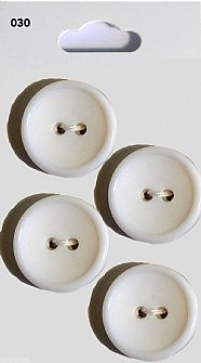 White Round Rimmed Buttons 030