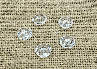 Clear Round Rimmed Buttons 038