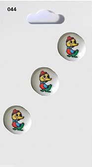 Duck Round Buttons 044