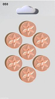 Pink Round Star detail Buttons 050