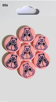 Pink Teddy Buttons 056