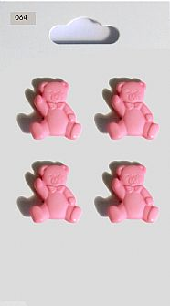 Pink Teddy Buttons 064