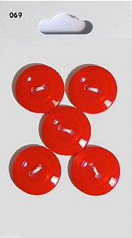 Red Rimmed Round Buttons 069