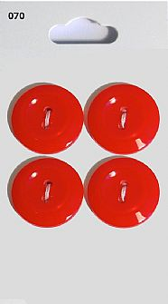 Red Rimmed Round Buttons 070