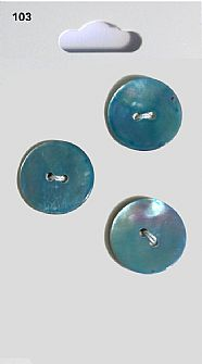 Blue Round Shell effect Buttons 103