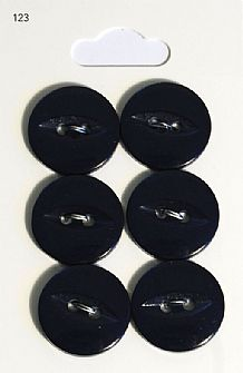 Navy Round Fisheye Buttons 123