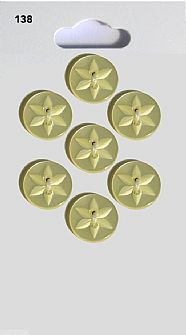 Lemon Round Star Buttons 138