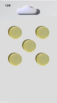 Lemon Round Domed Buttons 139