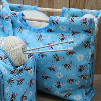 Marriner Yarns Wood Handle Craft Bags