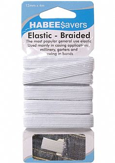Braided Elastic 12mm x 4m