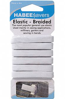 Braided Elastic 9mm x 4m