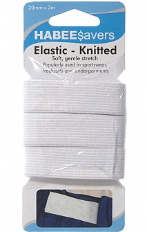 Knitted Elastic 20mm x 3m