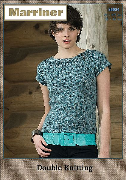 35554 Boat neck top in Marriner DK