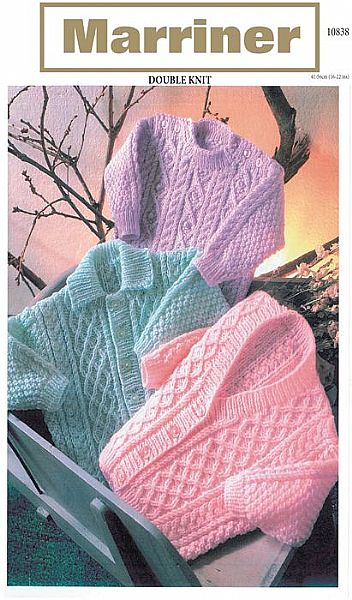 10838 Cardigans and Sweater in DK