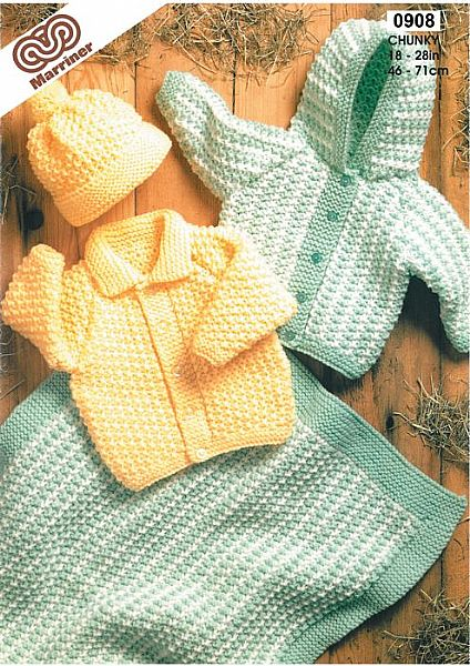 M0908 Jackets Cap and Blanket in Chunky