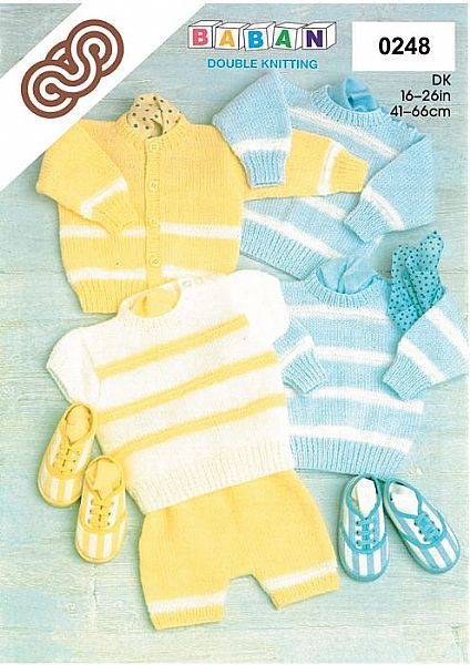 M0248 Sweaters Cardigan and Pants in DK