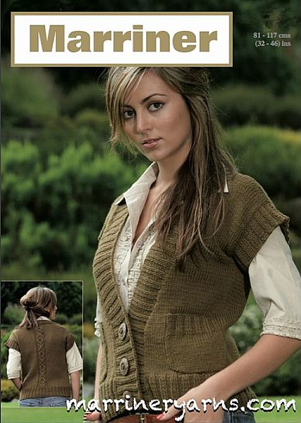 35400 Cabled waistcoat in Aran