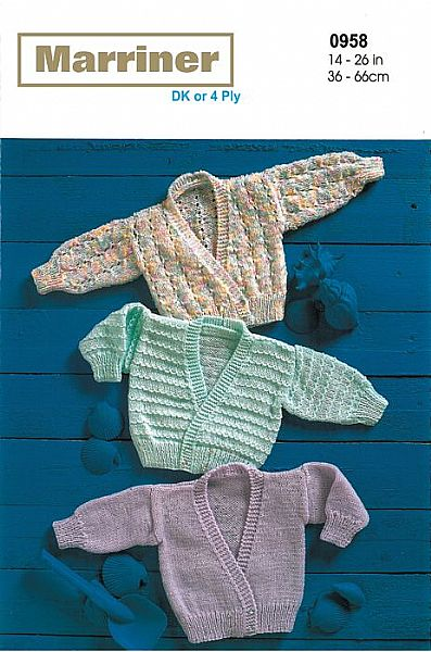 M0958 Cardigans in DK or 4 Ply