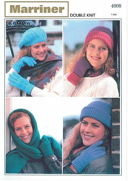 M4008 Ladies Hats Gloves and Mitts in DK
