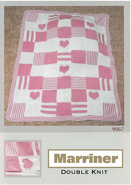 M9067 Knitted Patchwork Blanket in DK