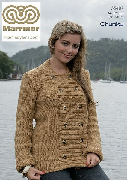 35407 Panelled Jacket in Chunky