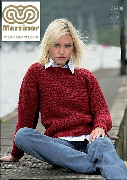 35408 Easy Knit Sweater in Chunky