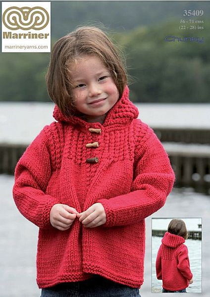 35409 Hooded Jacket in Chunky