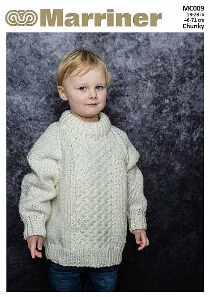 MC009 Round Neck Cable Jumper in Chunky