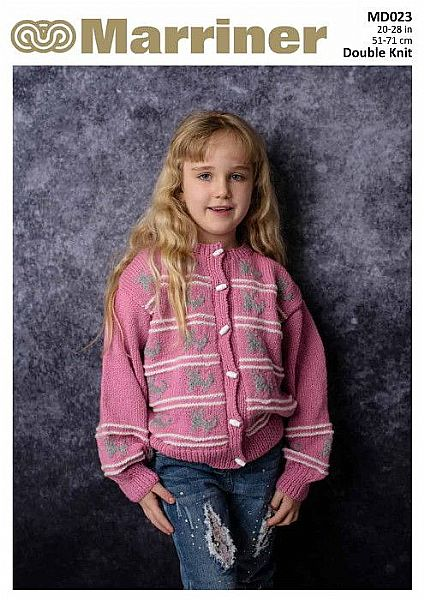 MD023 Kids' Cat Pattern Cardigan