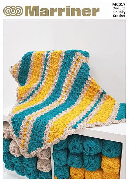 MC017 Corner to Corner Crochet Throw pattern in Chunky