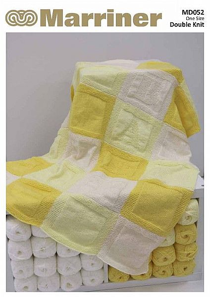 MD052 Sleepy Baby Blanket Knitting pattern in DK