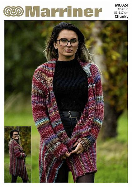 MC024 Wrap and Gilet in Chunky