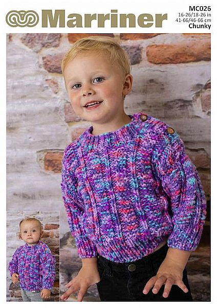 MC026 Baby Ribbed Jumper and Jacket in Chunky