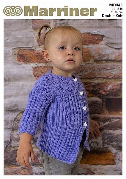 MD045 Baby Button Jacket in Double Knit