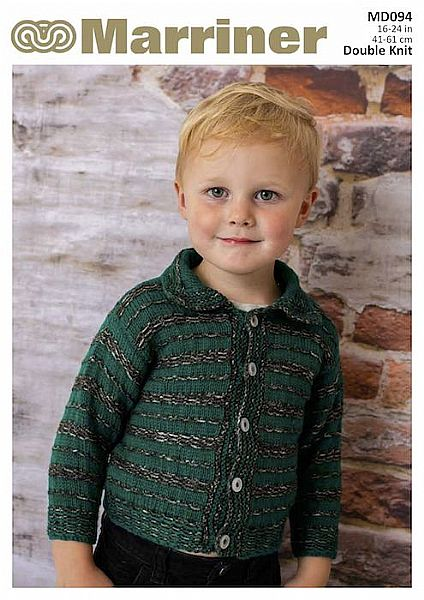 MD094 Boy's Striped Cardigan in Double Knit